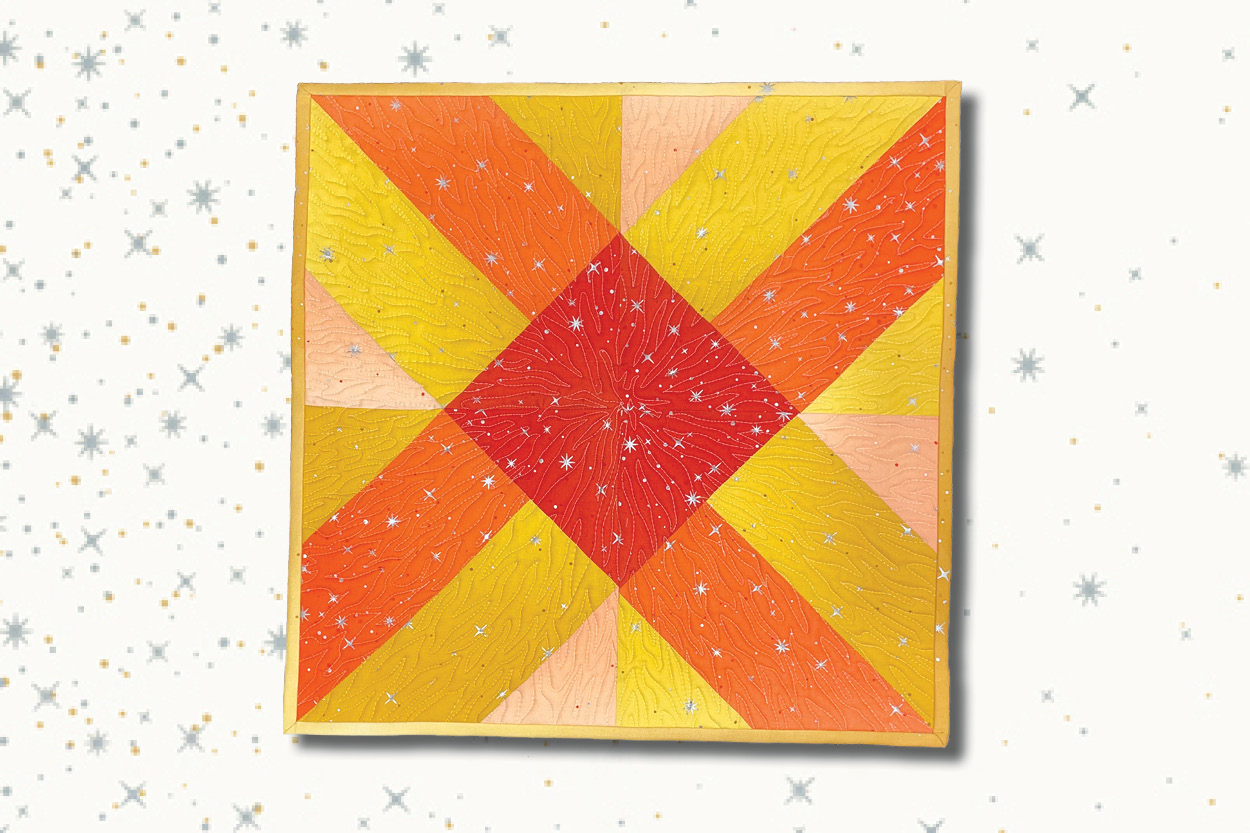 teaser image for Sunshine Mini Quilt blog post